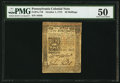 Colonial Notes:Pennsylvania, Pennsylvania October 1, 1773 50s PMG About Uncirculated 50.. ...