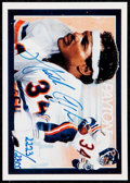 Football Cards:Singles (1970-Now), 1992 Upper Deck Walter Payton Autograph Card #27 - Serial #'d2223/2800....