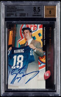 Football Cards:Singles (1970-Now), 1998 Topps Peyton Manning Bronze Autograph #A10 BGS NM-MT+ 8.5,Autograph 8. ...