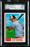 Baseball Cards:Singles (1970-Now), 1982 Topps Traded Cal Ripken Jr. #98T SGC 92 NM/MT+ 8.5....