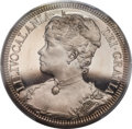 Coins of Hawaii , 1891(93) MEDAL Reginald Huth, Queen Liliuokalani Dala Medal, PR64 Deep Cameo PCGS. Medcalf 2MH-1....