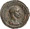 Ancients:Roman Imperial, Ancients: Macrinus (AD 217-218). Æ sestertius (34mm, 27.67 gm, 6h).XF, smoothing....