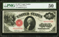 Fr. 37 $1 1917 Legal Tender PMG About Uncirculated 50