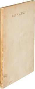 Books:Literature 1900-up, Edna St. Vincent Millay. Renascence. New York: Mitchell Kennerley, 1917. First edition, Japan Vellum issue, limi...