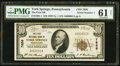 National Bank Notes:Pennsylvania, York Springs, PA - $10 1929 Ty. 1 The First NB Ch. # 7856. ...