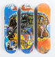 After Jean-Michel Basquiat X The Skateroom Triptych Skull (set of three), 2014 Screenprint in colors on skate deck 31...