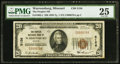 National Bank Notes:Missouri, Warrensburg, MO - $20 1929 Ty. 1 The Peoples NB Ch. # 5156. ...