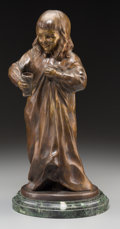 , After Johann Heinrich Schmidt (German). Child with Cup.Bronze with brown patina. 13-1/4 inches (33.7 cm) high on a 1 in...
