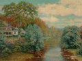 Paintings, Robert Ward van Boskerck (American, 1855-1932). River at Woodstock, Vermont. Oil on canvas. 24 x 32 inches (61.0 x 81.3 ...