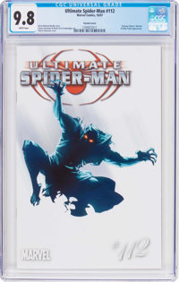 Ultimate Spider-Man #112 Variant Cover (Marvel, 2007) CGC NM/MT 9.8 White pages