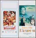 "Movie Posters:Foreign, Intervista & Other Lot (Academy, 1987). Italian Locandinas (2) (12.5"" X 27.5"" & 13.25"" X 27.5""). Foreign.. ... (Total: 2 Items)"