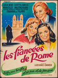 """Movie Posters:Foreign, Three Girls from Rome (Procinex, 1956). French Affiche (23.5"""" X 31.5""""). Foreign.. ..."""
