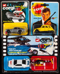 "Movie Posters:James Bond, James Bond Toy Vehicles Lot (Corgi Junior, 1976/1977/1979).Unopened Die-Cast Vehicles in Original Packaging (3) (4"" X 5""). ...(Total: 3 Items)"