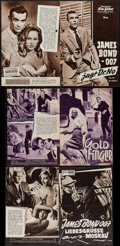 """Movie Posters:James Bond, Dr. No & Others Lot (United Artists, 1962). German Programs (5) (Multiple Pages, 6.5"""" X 9.5"""" & 7"""" X 10.5""""). James Bond.. ... (Total: 5 Items)"""