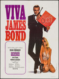 "Movie Posters:James Bond, Viva James Bond: Goldfinger (United Artists, R-1970). French Moyenne (23.5"" X 31.5""). James Bond.. ..."