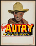 "Movie Posters:Western, Gene Autry Personal Appearance (Republic, 1930s). Unused Tabletop Standee (11"" X 14""). Western.. ..."
