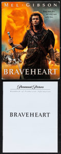 """Movie Posters:Action, Braveheart (Paramount, 1995). Presskit (9"""" X 12"""") with Photos (7)(8"""" X 10""""). Action.. ..."""