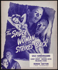"Movie Posters:Horror, The Spider Woman Strikes Back (Universal, 1946). Uncut Pressbook (6 Pages, 11.5"" X 14""). Horror.. ..."