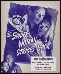 "The Spider Woman Strikes Back (Universal, 1946). Uncut Pressbook (6 Pages, 11.5"" X 14""). Horror"