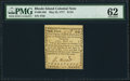 Colonial Notes:Rhode Island, Rhode Island May 22, 1777 $1/24 PMG Uncirculated 62.. ...