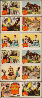 """A Thousand and One Nights (Columbia, 1945). Title Lobby Card & Lobby Cards (11) (11"""" X 14""""). Adventure..."""