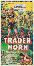 "Movie Posters:Adventure, Trader Horn (MGM, R-1953). Three Sheet (41"" X 79""). Adventure.. ..."