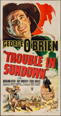 "Movie Posters:Western, Trouble in Sundown (RKO, R-1947). Three Sheet (41"" X 78.5""). Western.. ..."