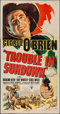 "Trouble in Sundown (RKO, R-1947). Three Sheet (41"" X 78.5""). Western"