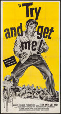 """Movie Posters:Film Noir, The Sound of Fury & Other Lot (United Artists, R-1951). Folded,Overall: Fine+. Three Sheet (41"""" X 78.5"""") & Lobby Cards (4) ...(Total: 5 Items)"""