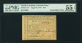 Colonial Notes:North Carolina, North Carolina August 8, 1778 $10 PMG About Uncirculated 55 EPQ.. ...