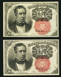 Fractional Currency:Fifth Issue, Fr. 1265 10¢ Fifth Issue About New;. Fr. 1266 10¢ Fifth Issue Choice About New.. ... (Total: 2 notes)