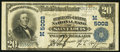 National Bank Notes:Missouri, Saint Louis, MO - $20 1902 Plain Back Fr. 658 The Merchants-LacledeNB Ch. # (M)5002. ...