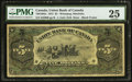 Canadian Currency: , Winnipeg, MB- Union Bank of Canada $5 July 1, 1912 Ch. #730-16-04a. ...