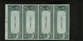 National Bank Notes:Tennessee, Jackson, TN - $5-$5-$5-$5 1882 Date Back Fr. 534 The First NB Ch. #(S)2168 Uncut Sheet. This is one of the very rarest ...