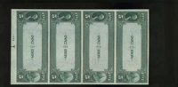Jackson, TN - $5-$5-$5-$5 1882 Date Back Fr. 534 The First NB Ch. # (S)2168 Uncut Sheet This is one of the very rarest...
