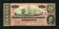 Confederate Notes:1864 Issues, T67 $20 1864. This $20 has very dark red ink. Extremely Fine....