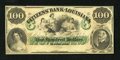 Obsoletes By State:Louisiana, New Orleans, LA- Citizens' Bank of Louisiana $100 18__. A decollete maiden, the hero of the Battle of New Orleans, Andrew Ja...