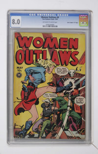 """Women Outlaws #6 Davis Crippen (""""D"""" Copy) pedigree (Fox Features Syndicate, 1949) CGC VF 8.0 Off-white to whit..."""
