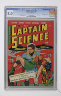 "Golden Age (1938-1955):Science Fiction, Captain Science #2 Davis Crippen (""D"" Copy) pedigree (YouthfulMagazines, 1951) CGC VF 8.0 Off-white to white pages...."