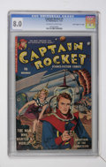 "Golden Age (1938-1955):Science Fiction, Captain Rocket #1 Davis Crippen (""D"" Copy) pedigree (P.L.Publishing Co., 1951) CGC VF 8.0 Off-white to white pages...."