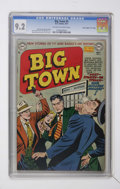 """Golden Age (1938-1955):Crime, Big Town #5 Davis Crippen (""""D"""" Copy) pedigree (DC, 1951) CGC NM- 9.2 Off-white to white pages...."""