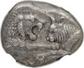 Ancients:Greek, Ancients: LYDIAN KINGDOM. Croesus and Persian rule (ca. 561-546BC). AR siglos (16mm, 4.90 gm). NGC Choice XF ★ 5/5 - 5/5. ...