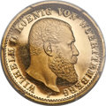 German States:Württemberg, German States: Württemberg. Wilhelm II gold Proof 20 Mark 1914-FUNC Details (Rim Damage) PCGS,...