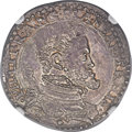 Italy: Naples. Philip II of Spain 1/2 Ducato ND (1554-98) MS63 NGC