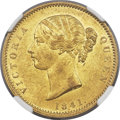 India:British India, India: British India. East India Company - Victoria gold Mohur 1841-(C) MS62 NGC,...