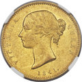India:British India, India: British India. East India Company - Victoria gold Mohur 1841.-(c) MS61 NGC,...
