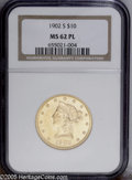 Liberty Eagles: , 1902-S $10 Prooflike MS62 NGC. The fields are pleasantly reflectiveand the design is crisply detailed. A scarce coin with ...