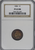 1884 1C PR63 Red and Brown NGC. NGC Census: (18/214). PCGS Population (33/306). Mintage: 3,942. Numismedia Wsl. Price fo...