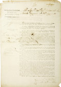 Political:Miscellaneous Political, [Circular] Decree No. 270 dividing the state into sevendepartments, including the three departments of Bejar, Brazos, andNac...