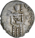Ancients:Byzantine, Ancients: Andronicus IV Palaeologus (1376-1379). AR 1/8 stavraton(13mm, 0.78 gm, 12h). NGC XF 4/5 - 4/5....